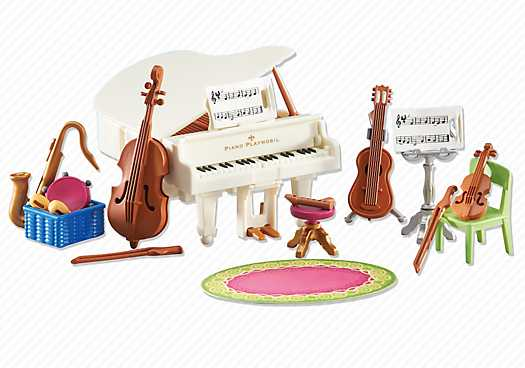 De goedkoopste muziekkamer 6458 playmowatch for Salle a manger playmobil city life